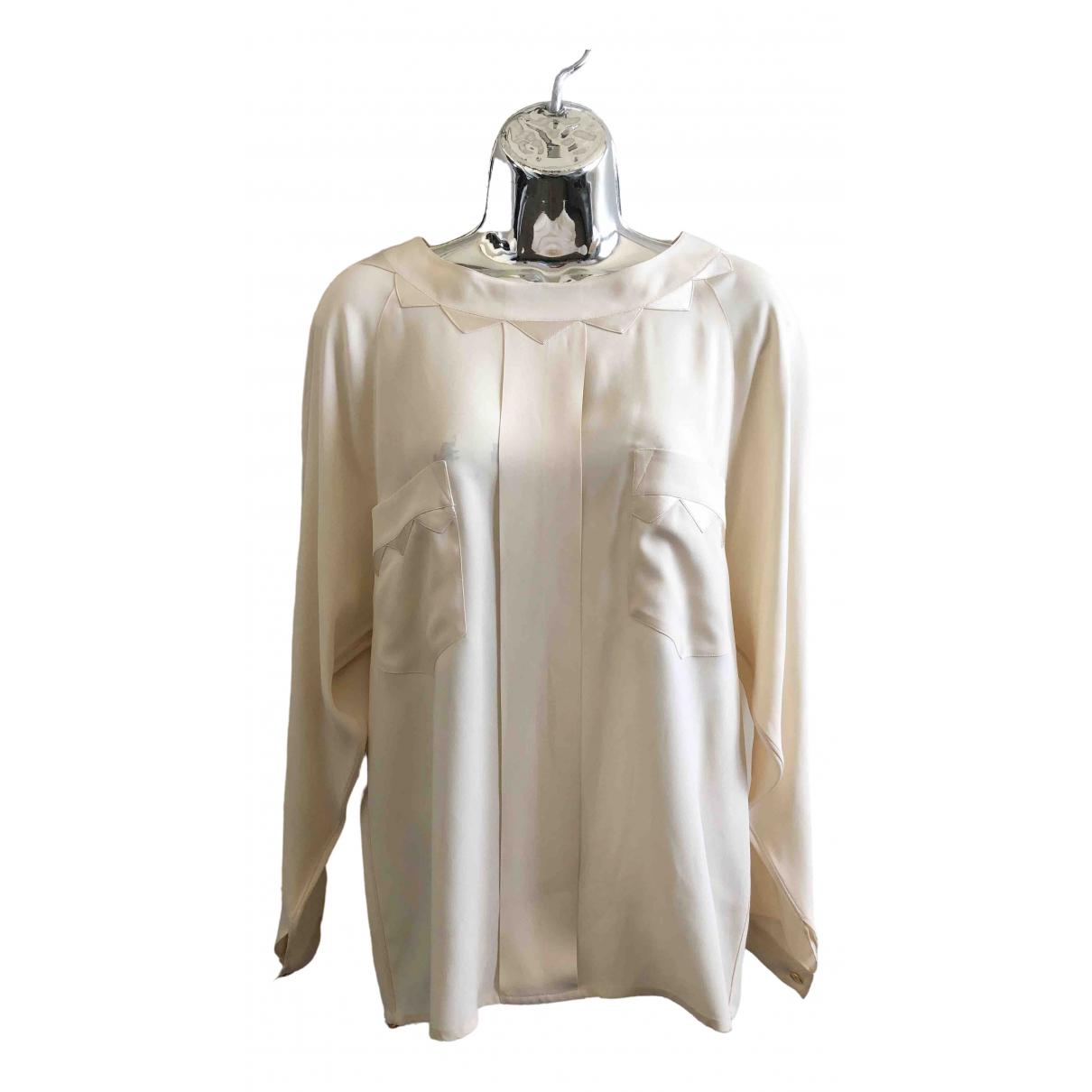 Chanel \N Ecru Silk  top for Women 40 FR
