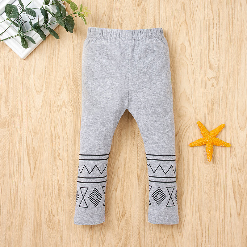 Children Printed Soft Casual Pants For 1-7Y