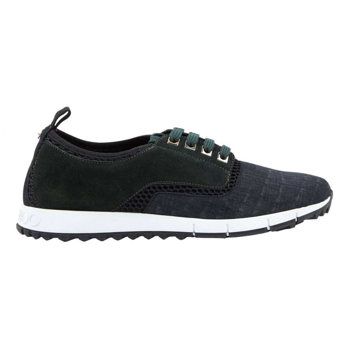 Jimmy Choo \N Sneakers in  Anthrazit Veloursleder