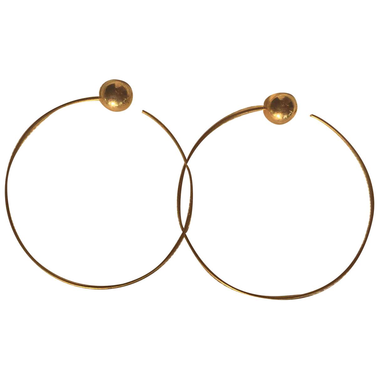 Celine - Boucles doreilles Dot pour femme en metal - dore