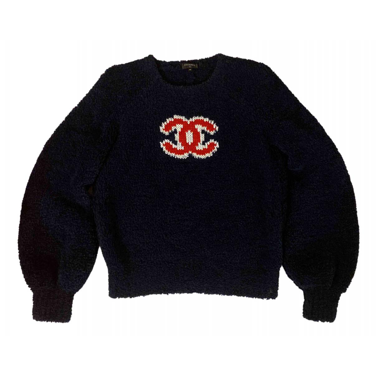 Chanel - Pull   pour femme en laine - bleu