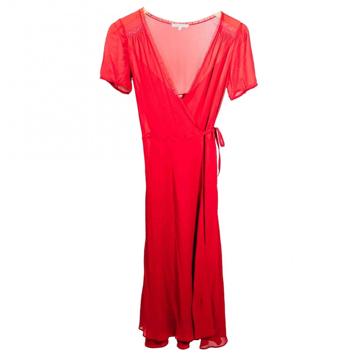 Armand Ventilo \N Kleid in  Rot Seide