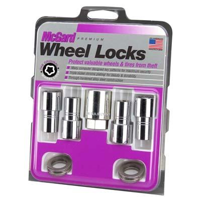 McGard 22142 Wheel Lock Nut Set - 4pk. (Long Shank Seat) 7/16-20 / 13/16 Hex / 1.75in. Length - Chrome