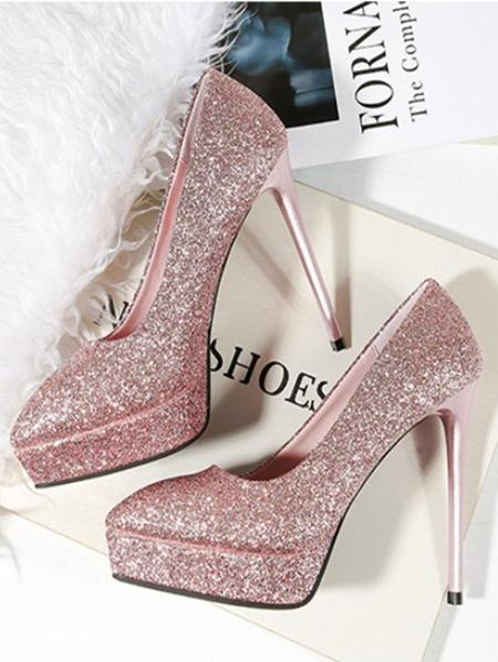 Yoins Glitter High Heels