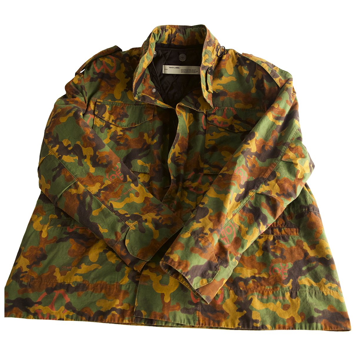 Off-white N Multicolour Cotton jacket  for Men M International