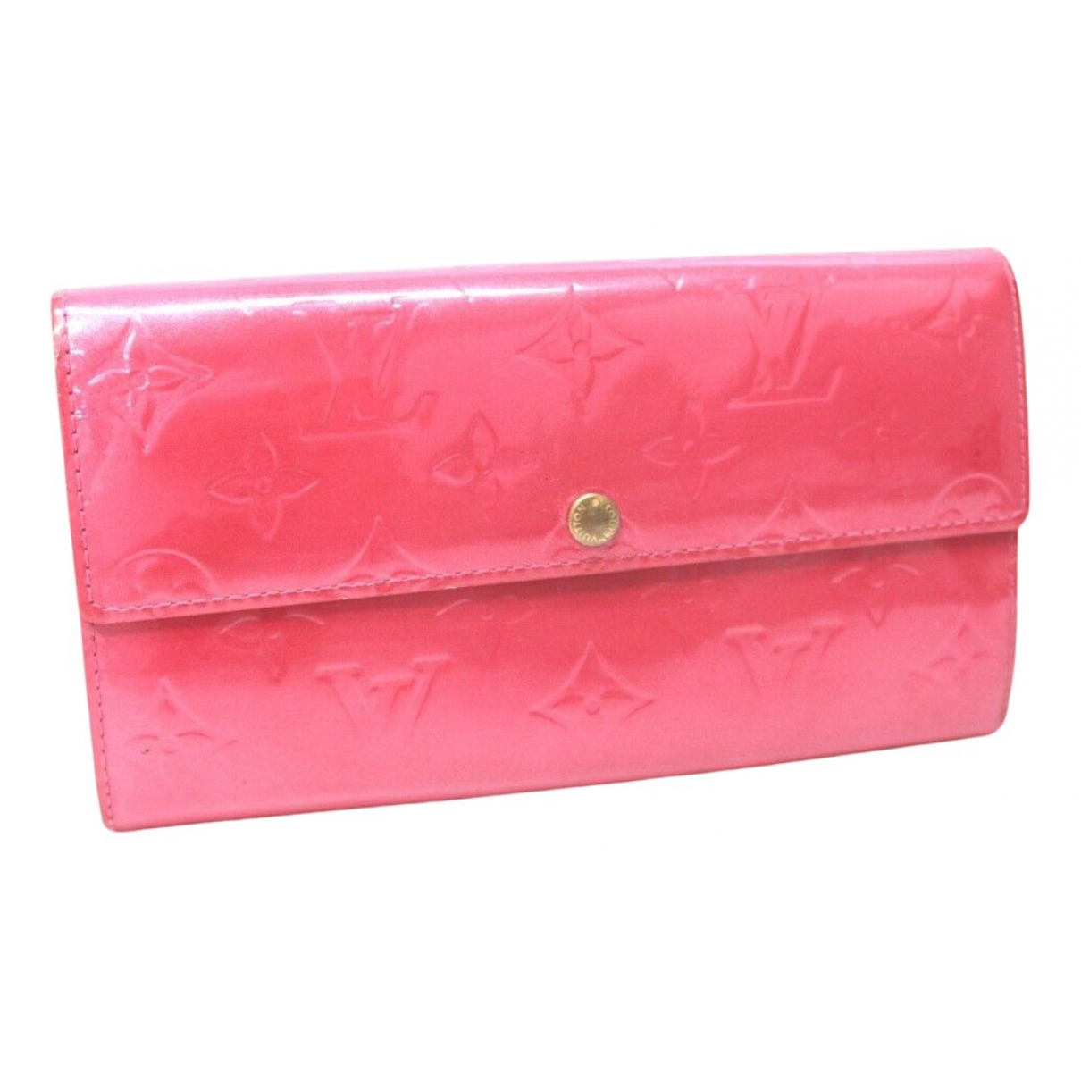 Louis Vuitton Sarah Portemonnaie in  Rosa Lackleder