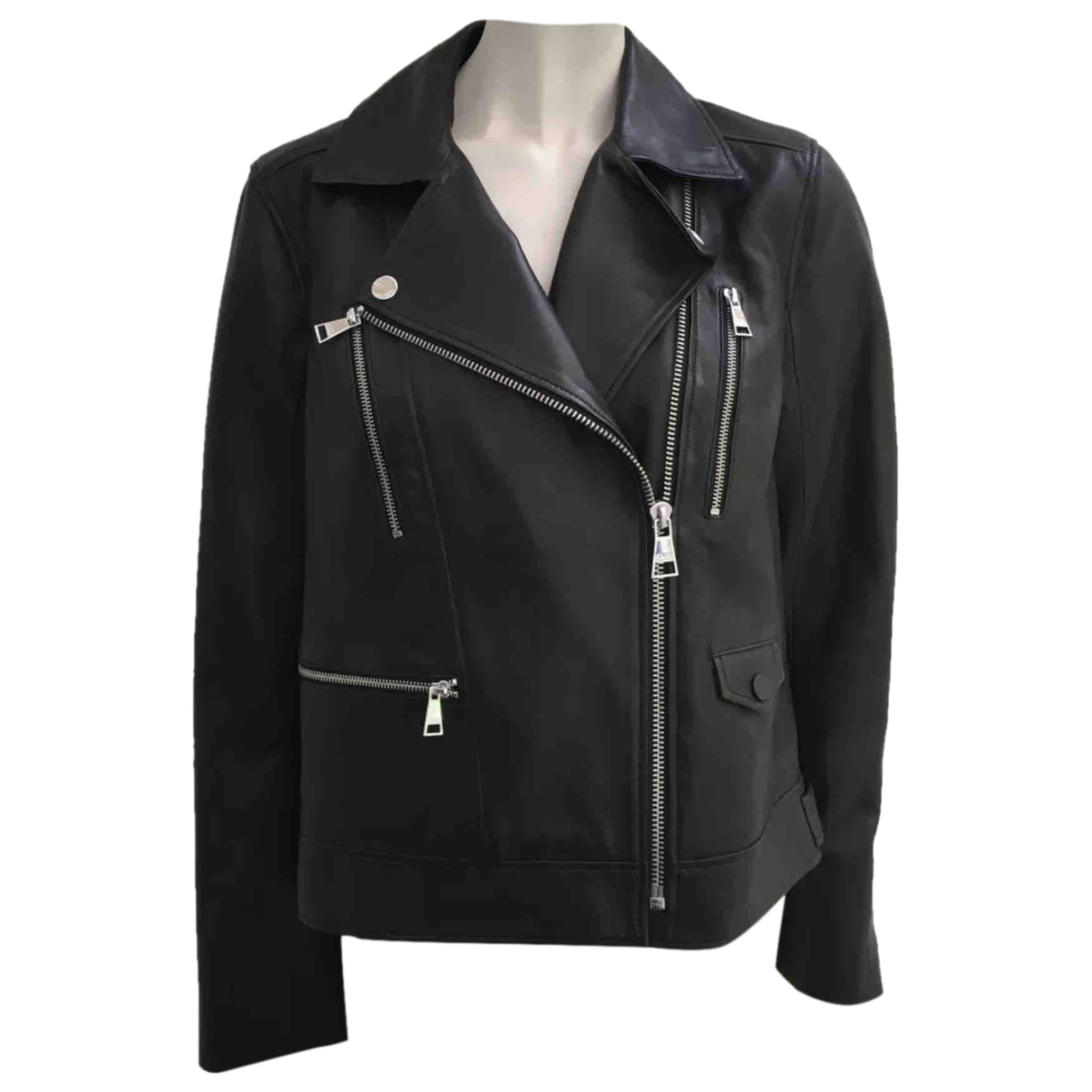 Karl Lagerfeld \N Black Leather jacket for Women 48 IT