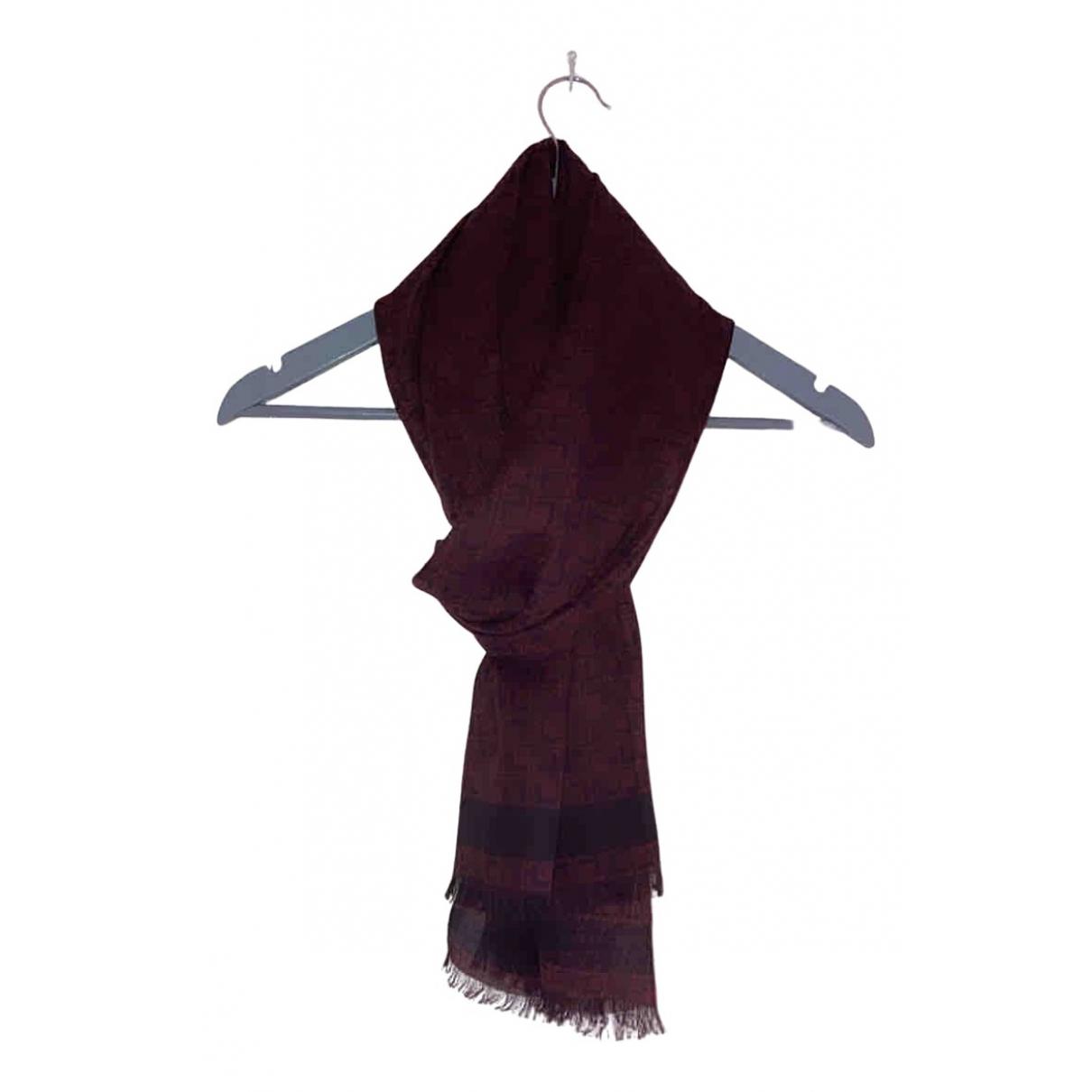 Lancel \N Tuecher, Schal in  Bordeauxrot Wolle