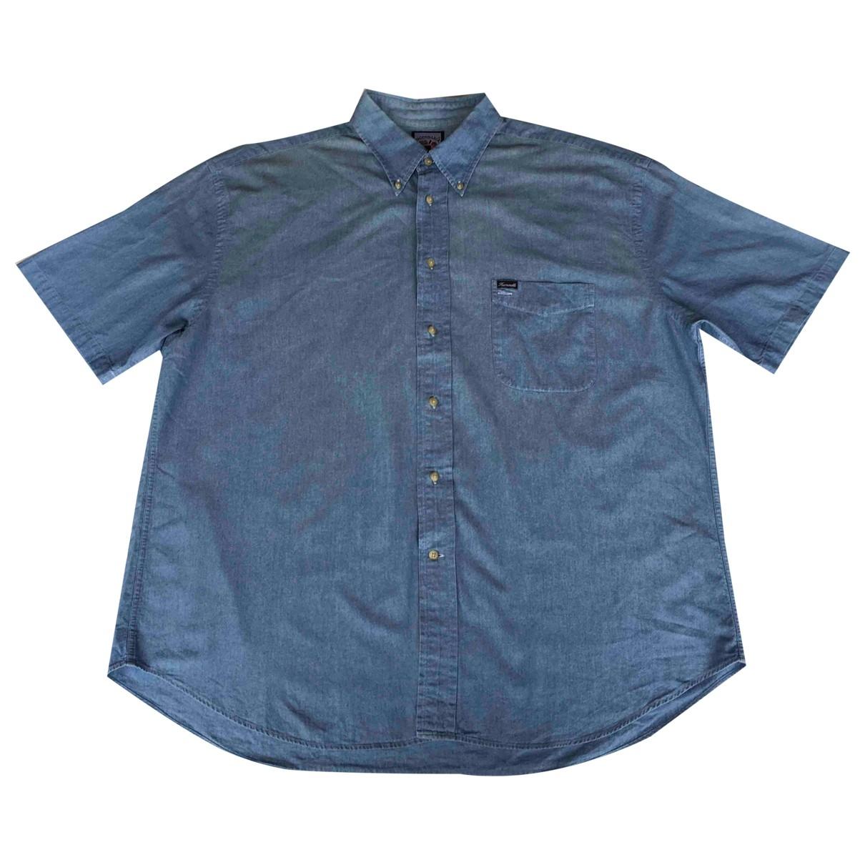 Faconnable \N Blue Cotton Shirts for Men 3XL International