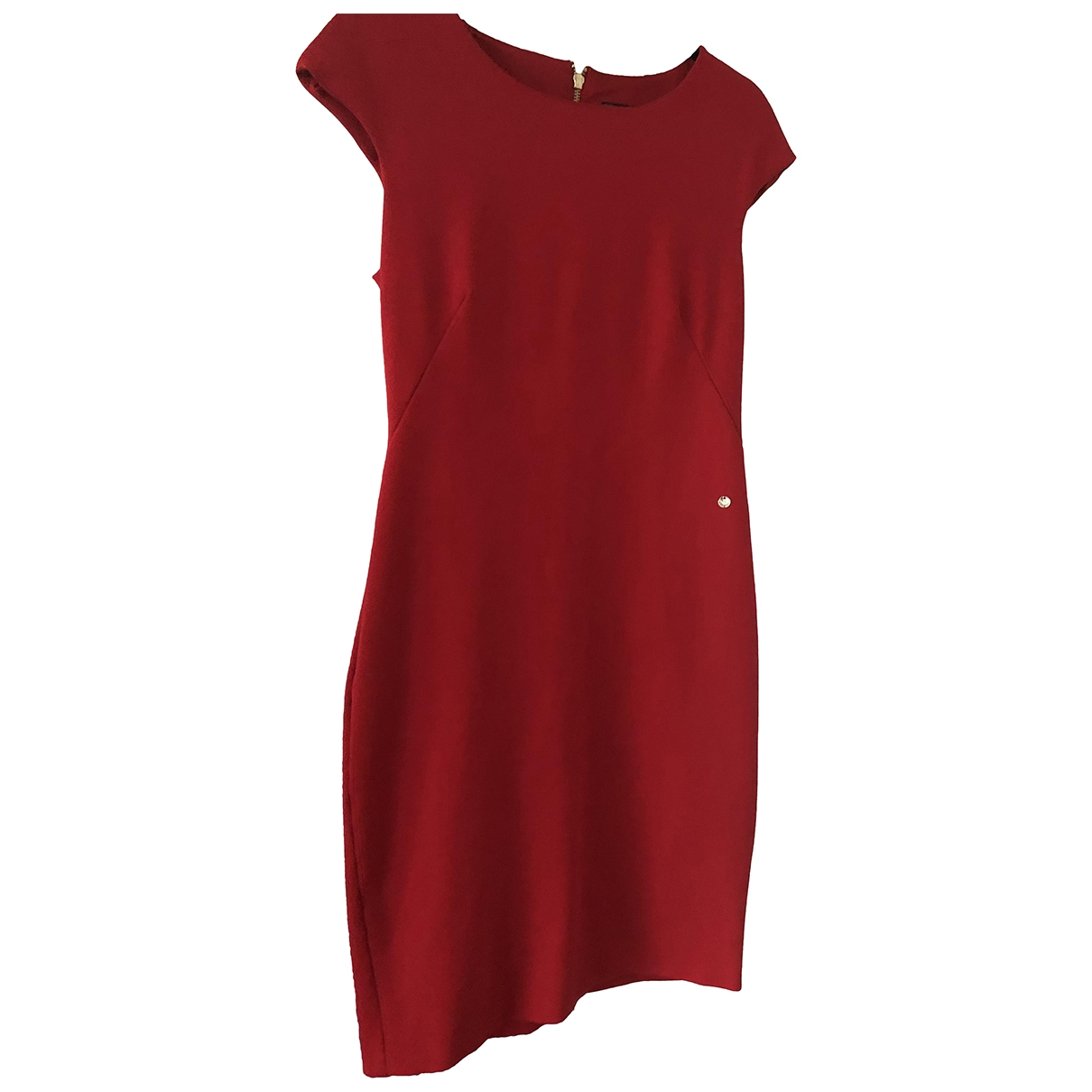 Armani Jeans \N Red Cotton - elasthane dress for Women 42 FR