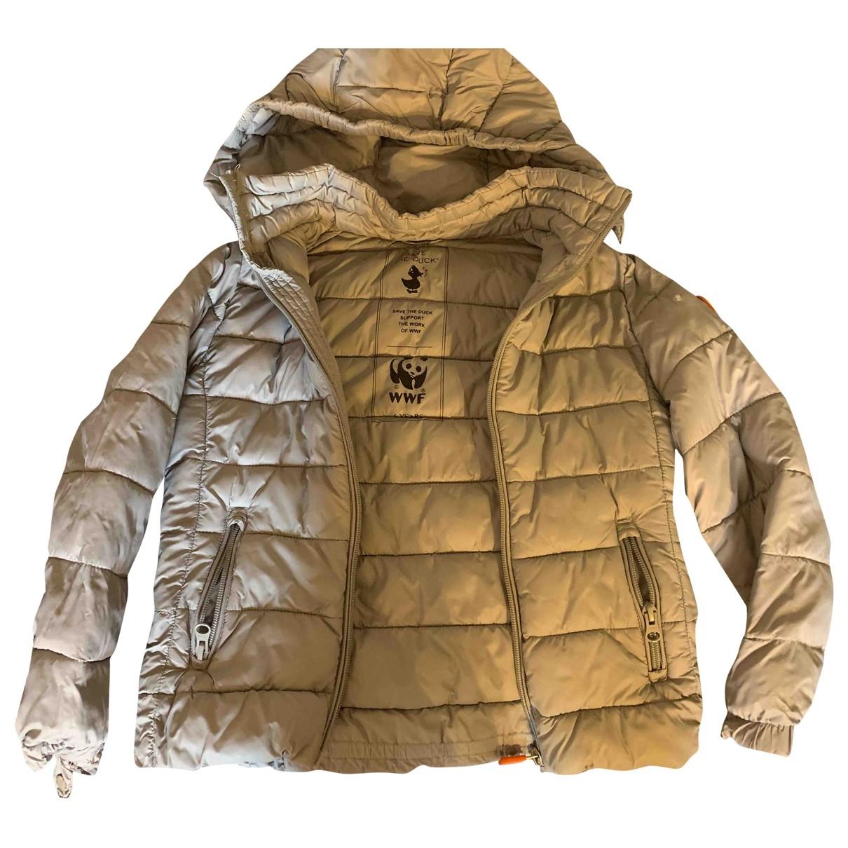 Save The Duck \N Jacke, Maentel in  Grau Polyester