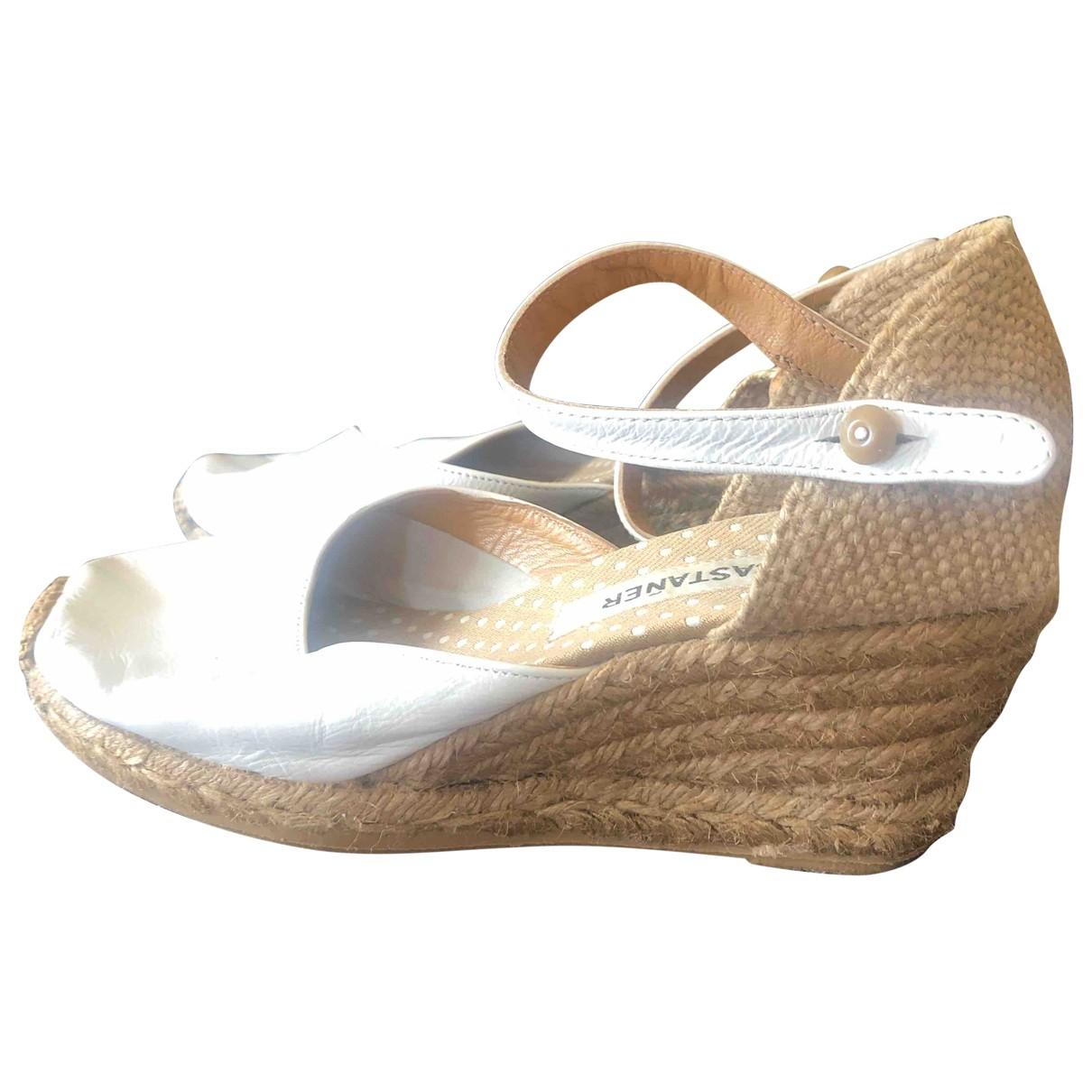 Castaner - Espadrilles   pour femme en cuir - blanc