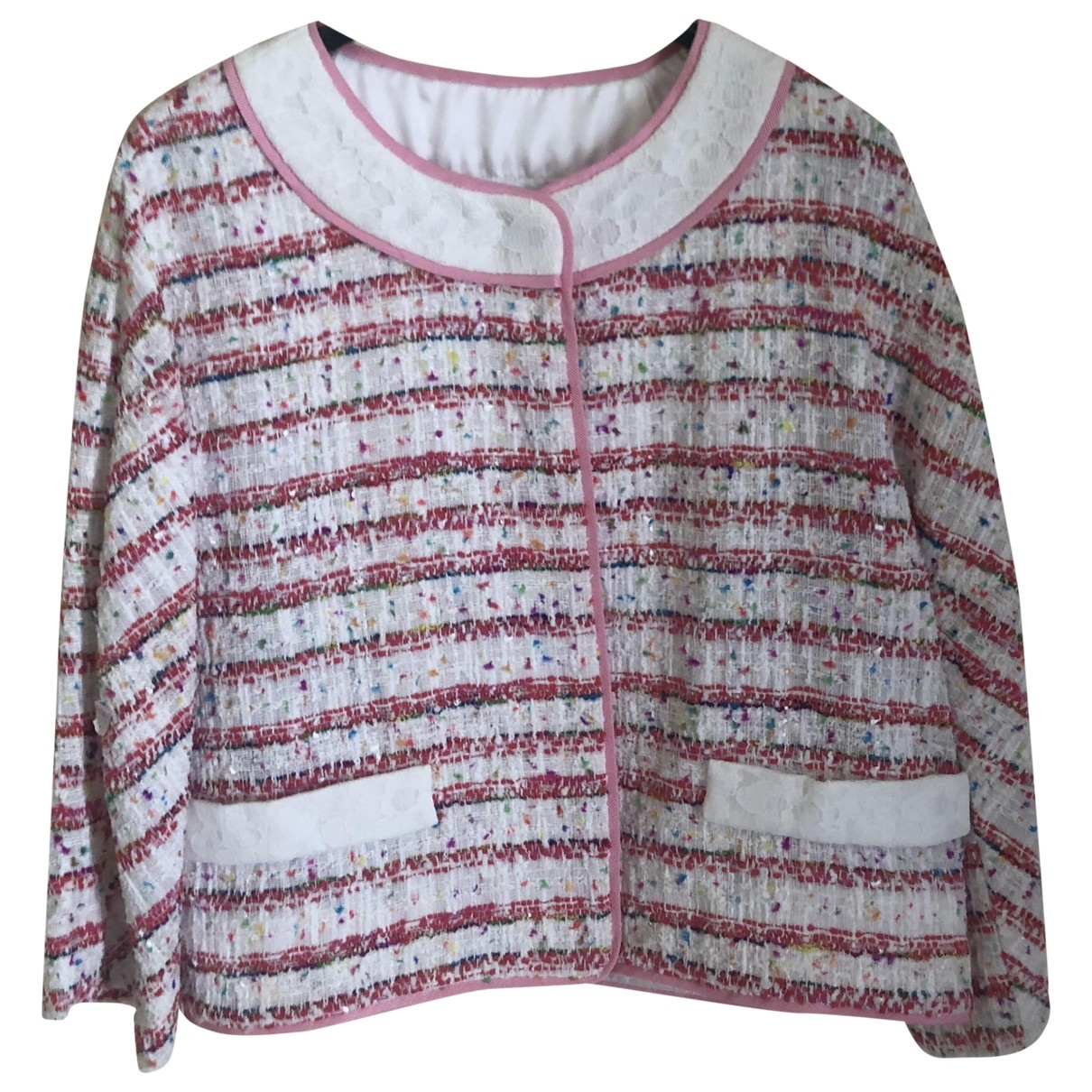 Moschino \N Pink Tweed jacket for Women 38 IT