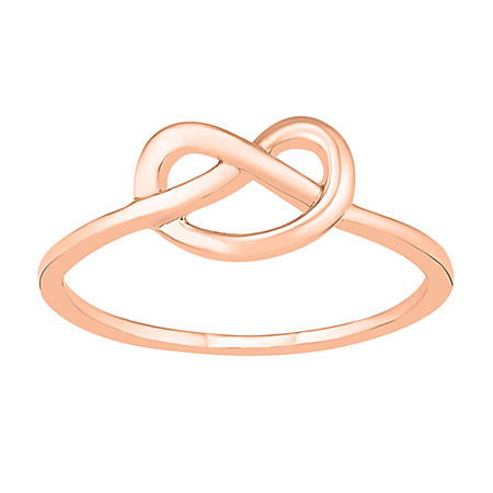 7MM 10K Rose Gold Knot Band, 6 , No Color Family