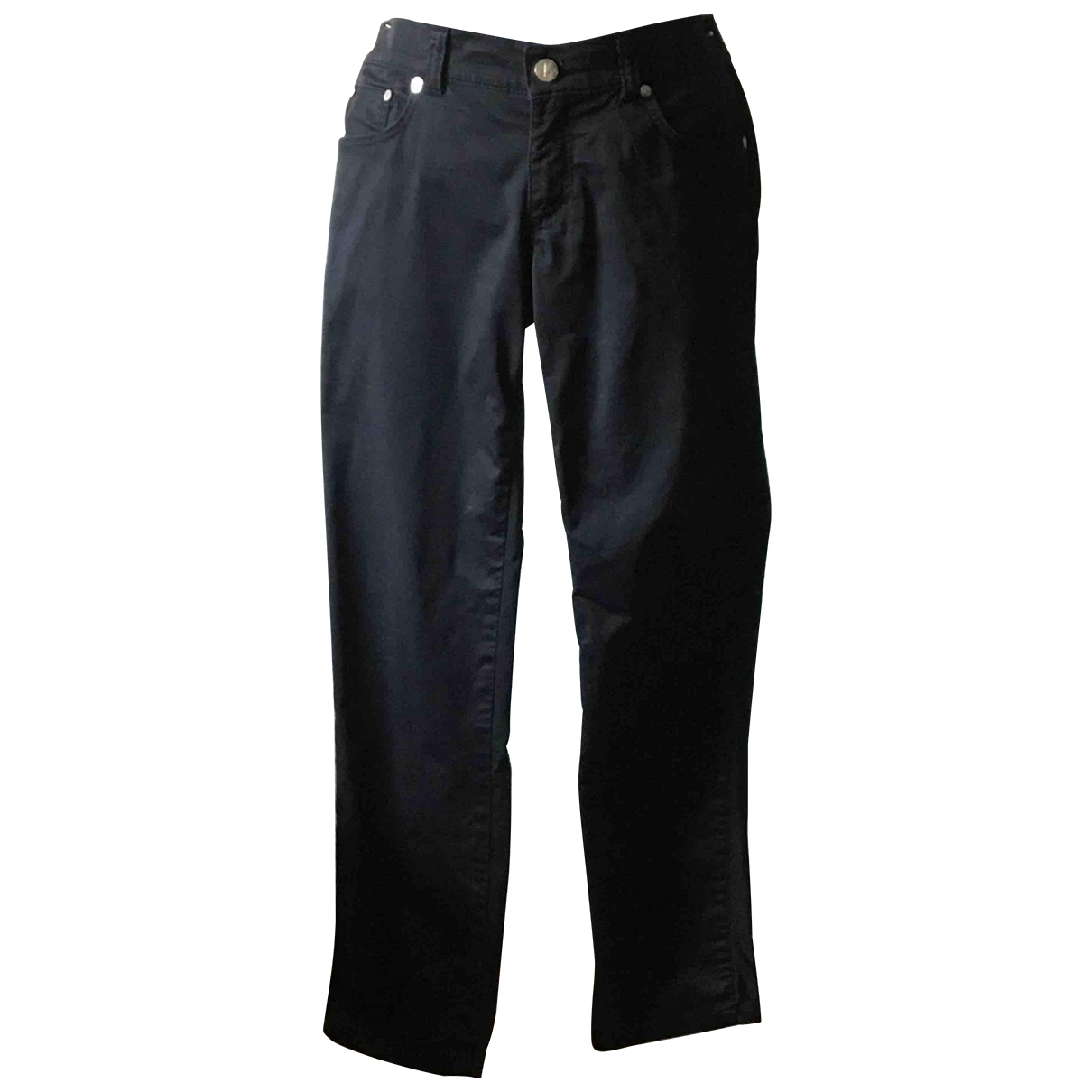 Versace Jeans \N Black Cotton Trousers for Women 36 FR