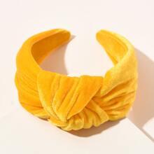 Knot Decor Velvet Hair Hoop