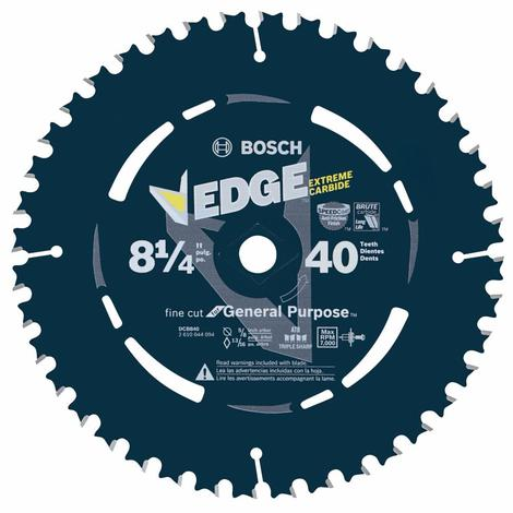 Bosch 8-1/4 In. 40 Tooth Edge Circular Saw Blade for Fine Finish