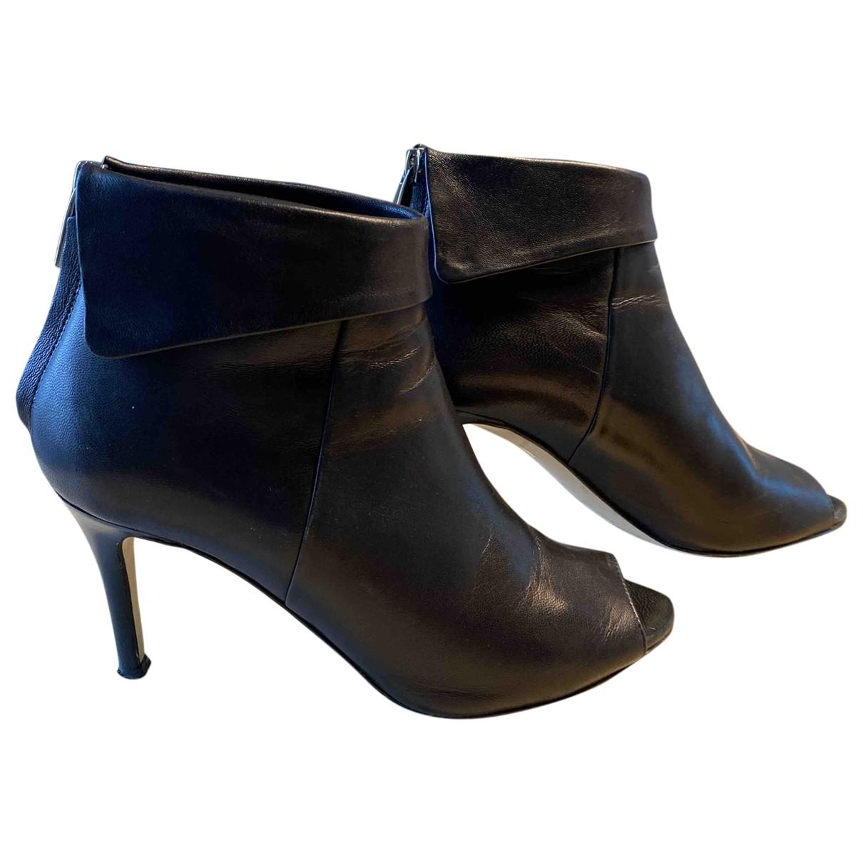 Karen Millen - Boots   pour femme en cuir - noir
