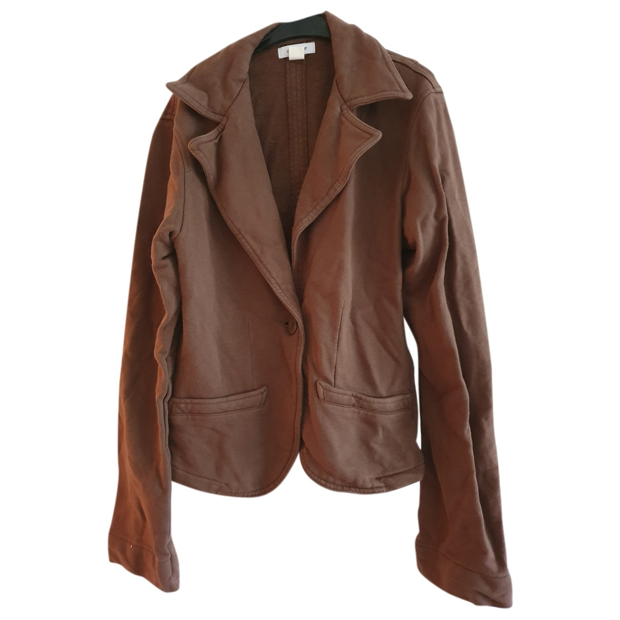 Zara - Veste   pour femme en coton - marron