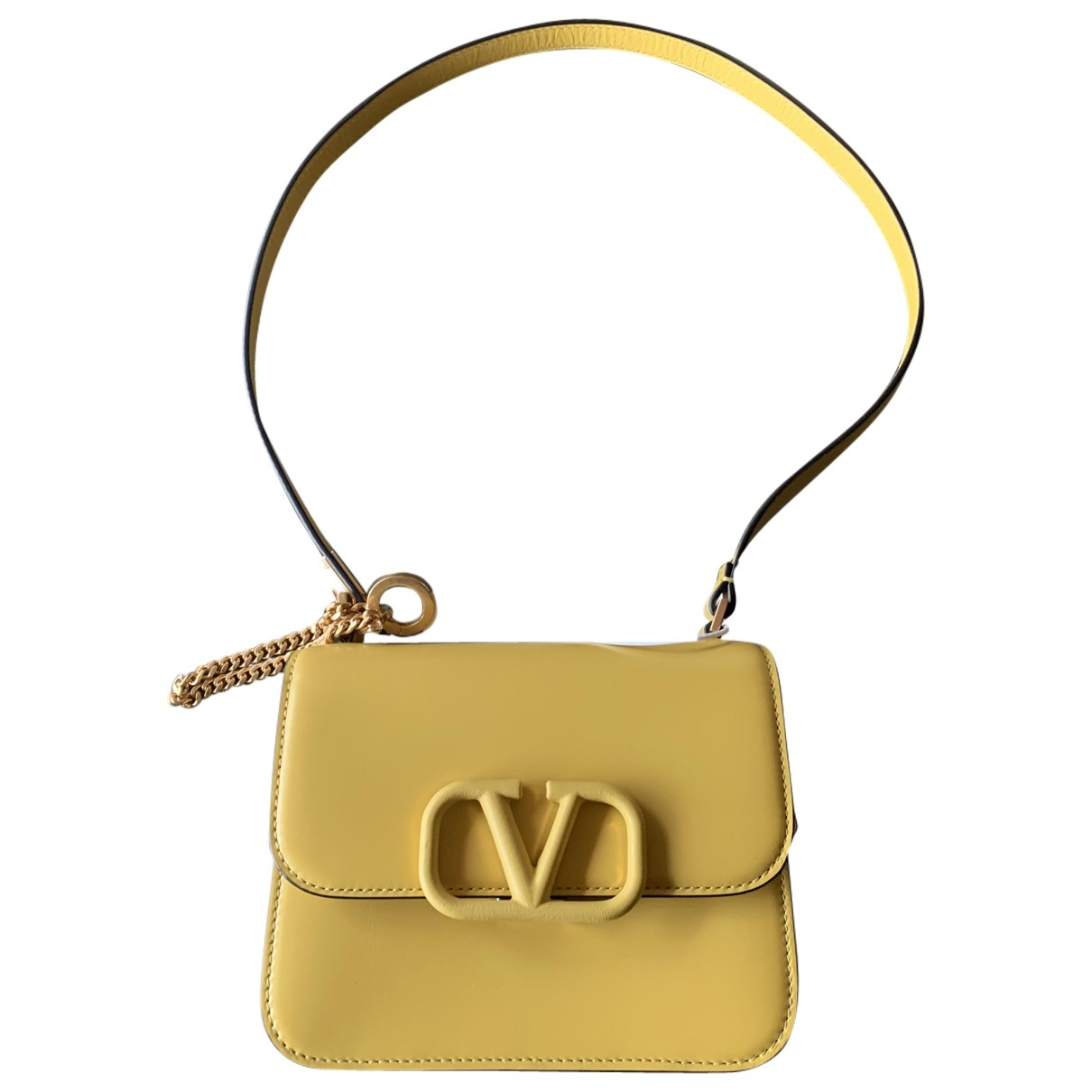 Valentino Garavani Vsling Handtasche in  Gelb Leder