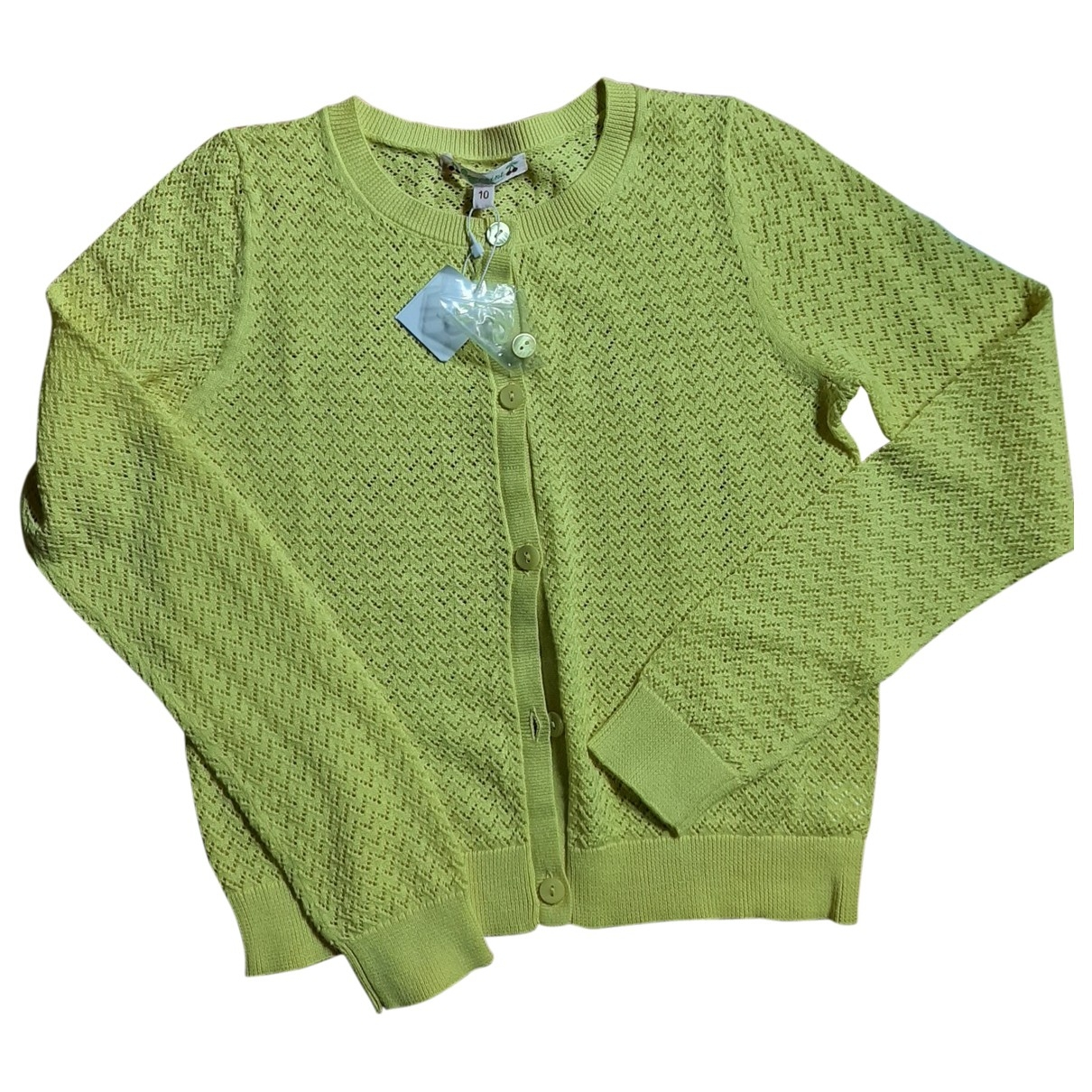 Bonpoint \N Yellow Cotton Knitwear for Kids 10 years - up to 142cm FR