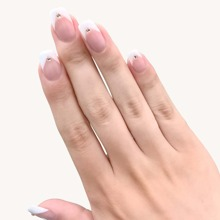 24 Stuecke zweifarbige falsche Nagel & 1 Stueck Nagelfeile & 1 Blatt Band