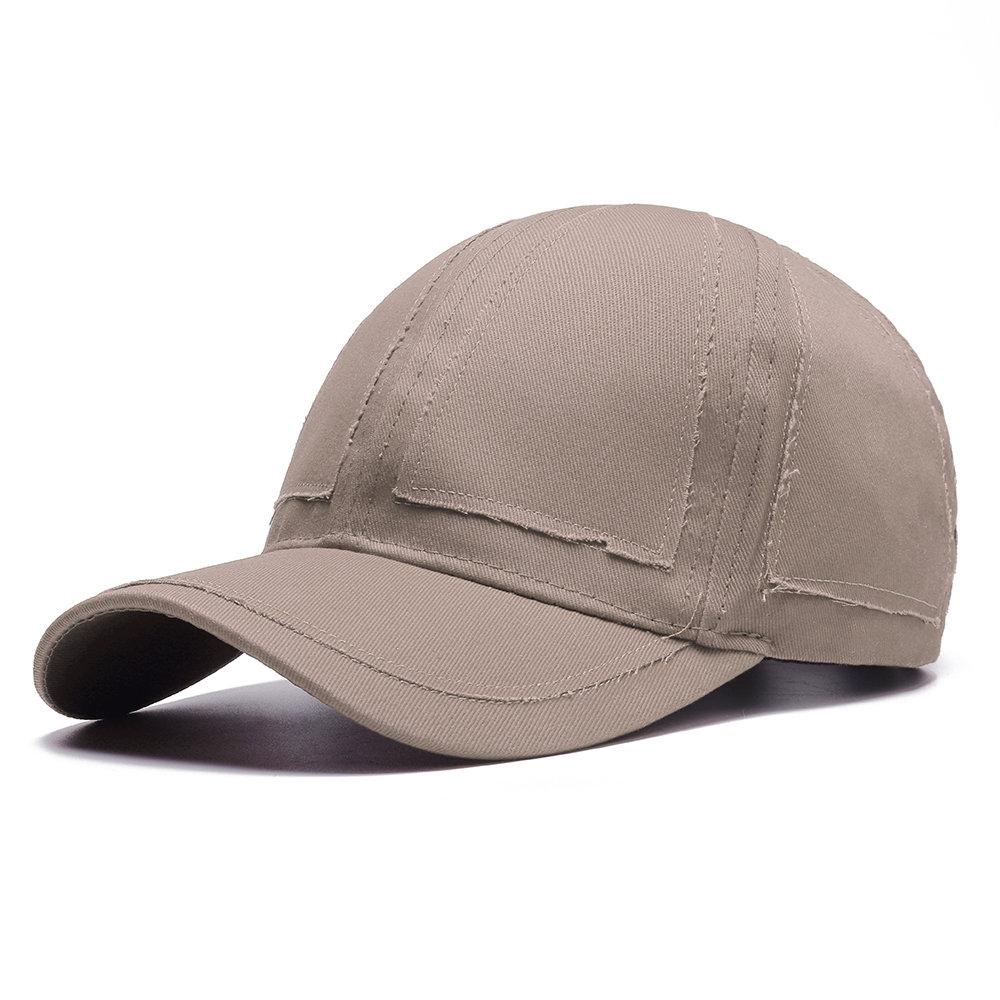 Mens Cotton Retro Simple Vogue Solid Baseball Cap Casual Wild Travel Outdoor Sun Cap