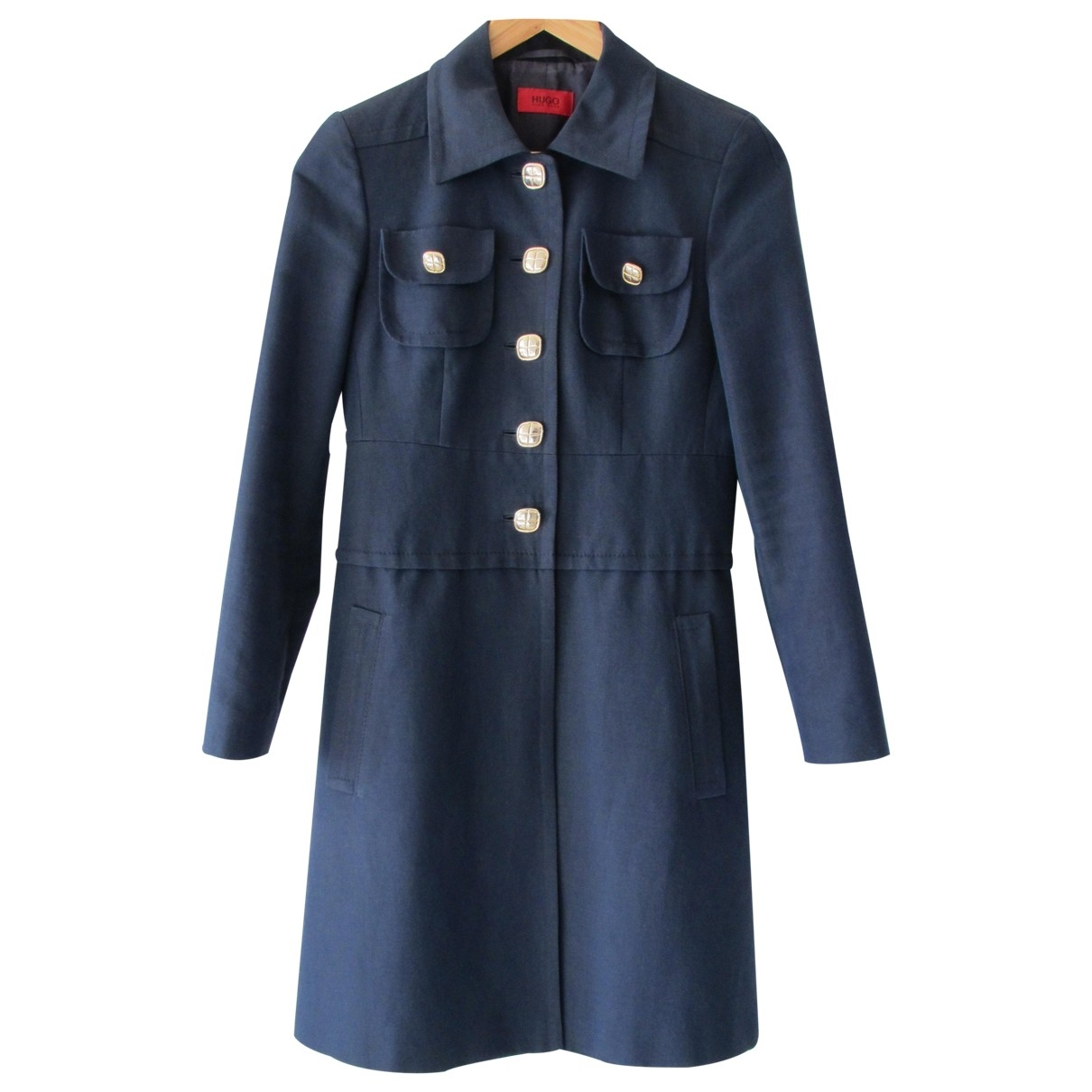 Hugo Boss \N Navy Cotton coat for Women 40 IT