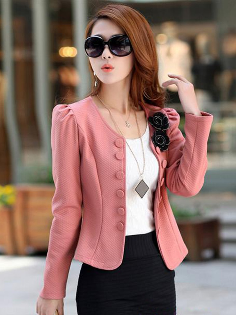 Ericdress Retro Slim Double-Breasted Cardigan Fancy Blazer