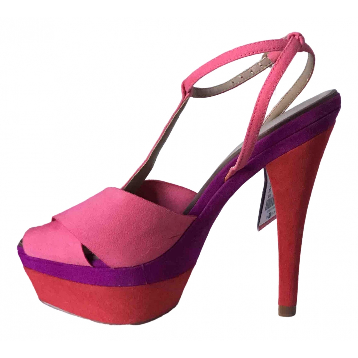 Zara - Escarpins   pour femme en suede - multicolore