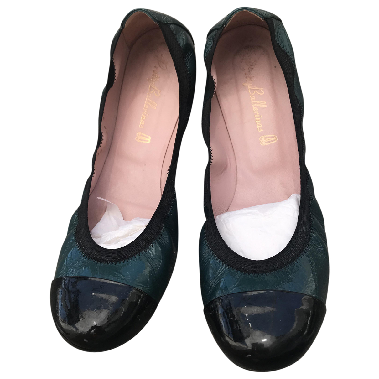 Pretty Ballerinas \N Ballerinas in  Blau Lackleder