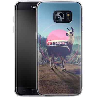 Samsung Galaxy S7 Edge Silikon Handyhuelle - Llama von Ali Gulec