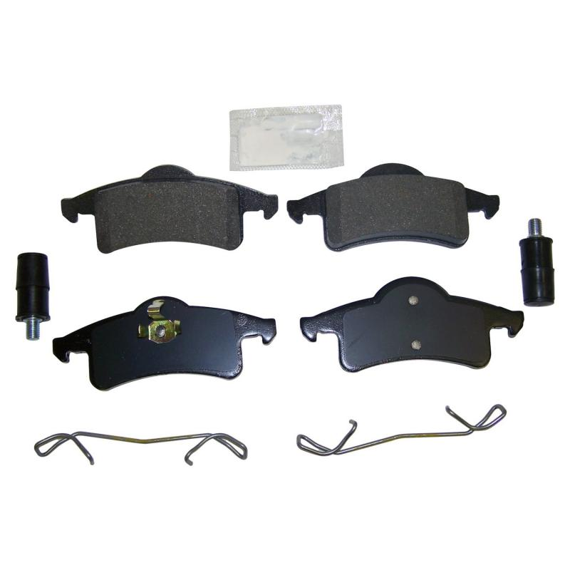 Crown Automotive 5011970MK Jeep Replacement Rear Brake Pad Master Kit for 1999-2004 WJ, WG Jeep Grand Cherokee Jeep Grand Cherokee Rear 1999-2004