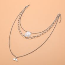 Fishtail Charm Layered Necklace