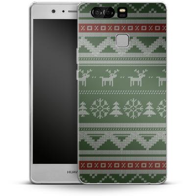 Huawei P9 Silikon Handyhuelle - Norwegian Jumper Green von caseable Designs