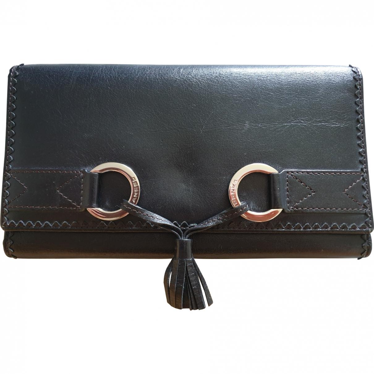 Lancel - Portefeuille   pour femme en cuir - noir