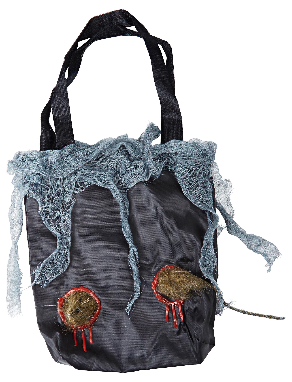 Kostuemzubehor Tasche Ratte Farbe: schwarz