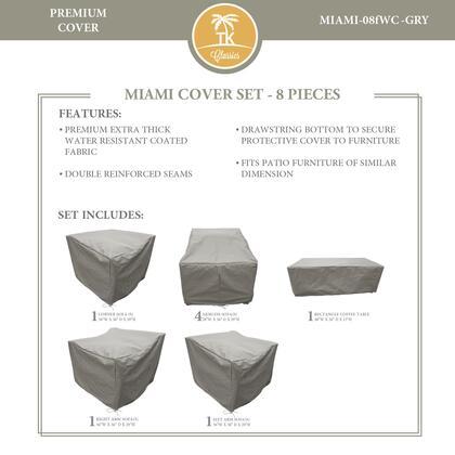 Miami MIAMI-08fWC-GRY MIAMI-08f Protective Cover Set in