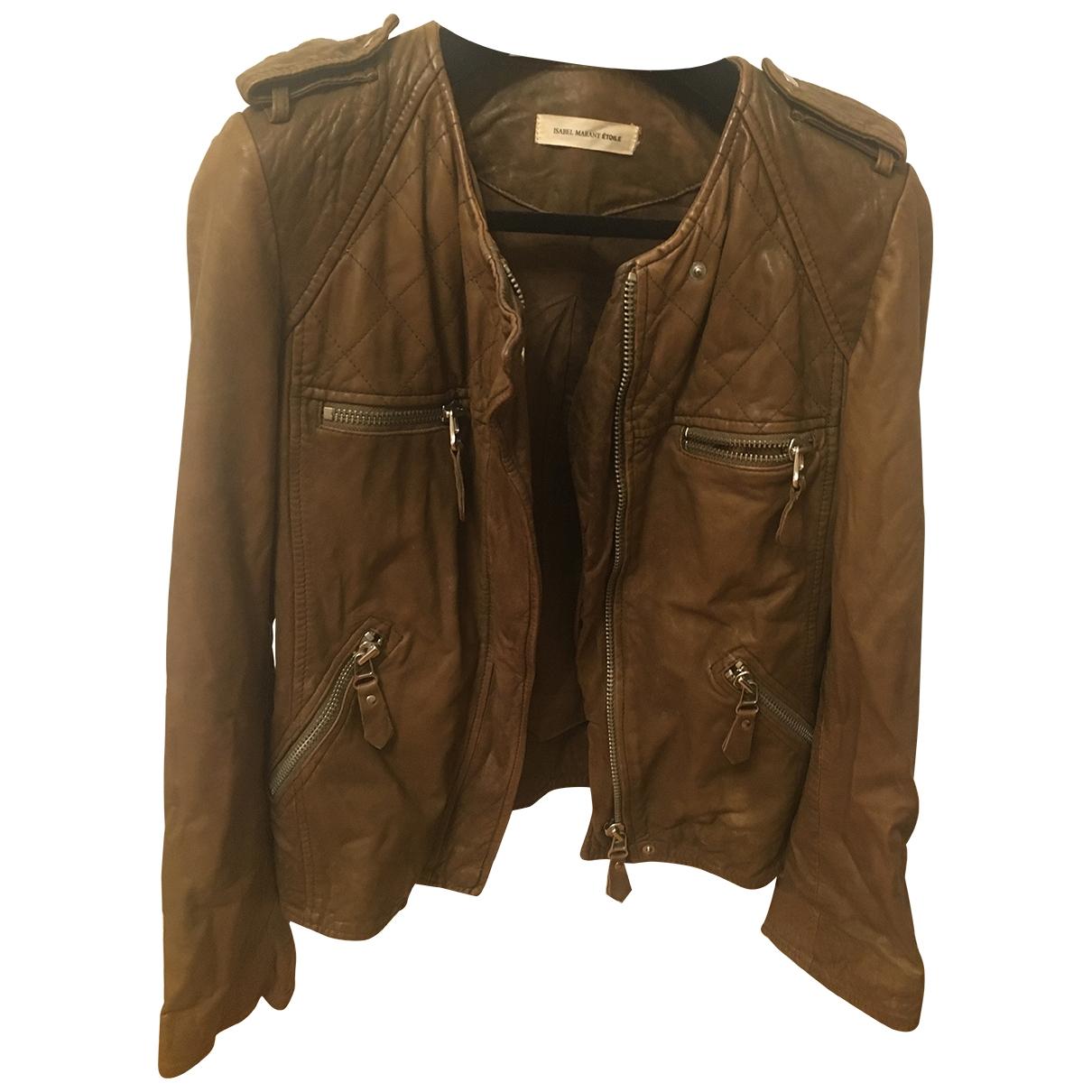 Isabel Marant Etoile \N Khaki Leather jacket for Women 38 FR