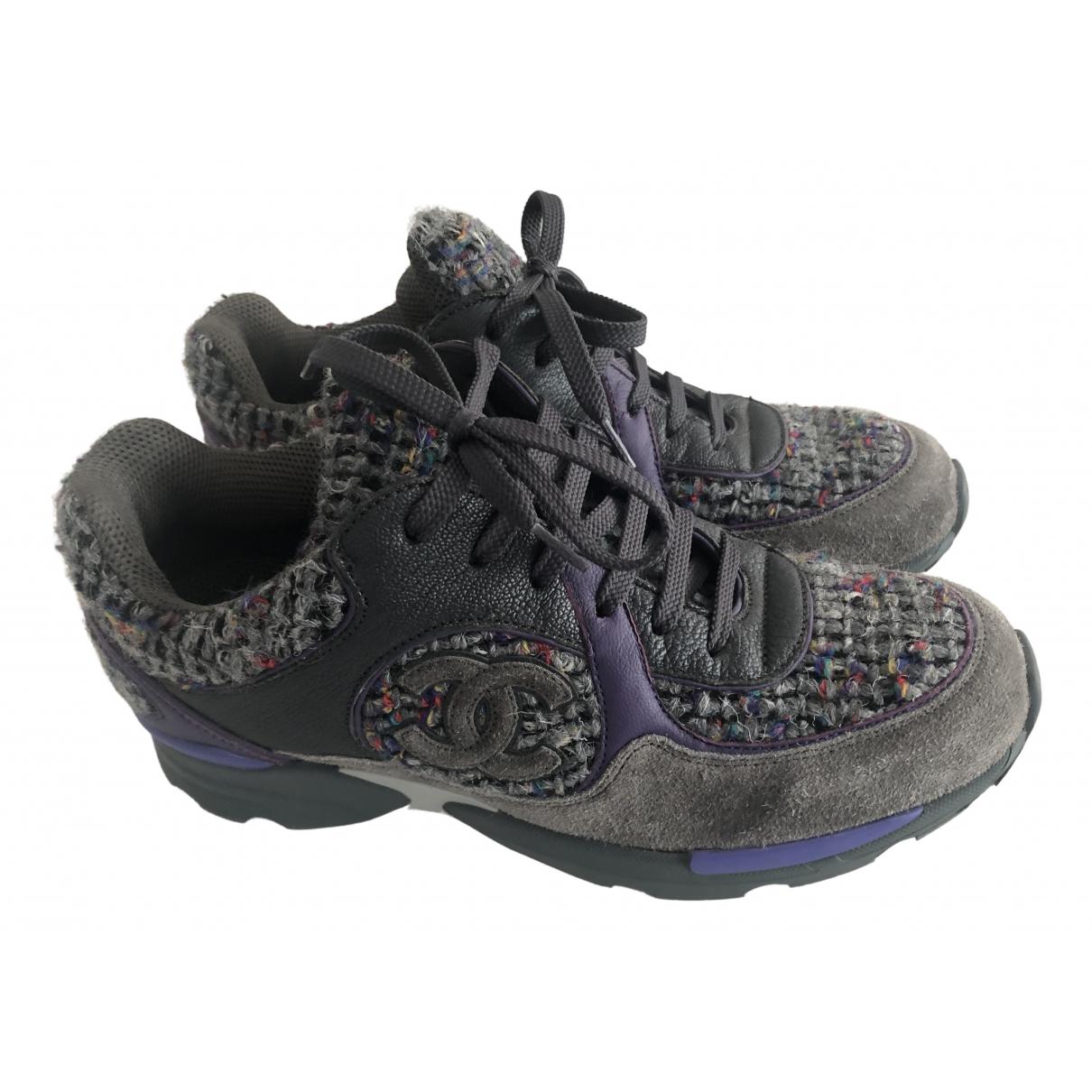 Chanel \N Sneakers in  Anthrazit Tweed