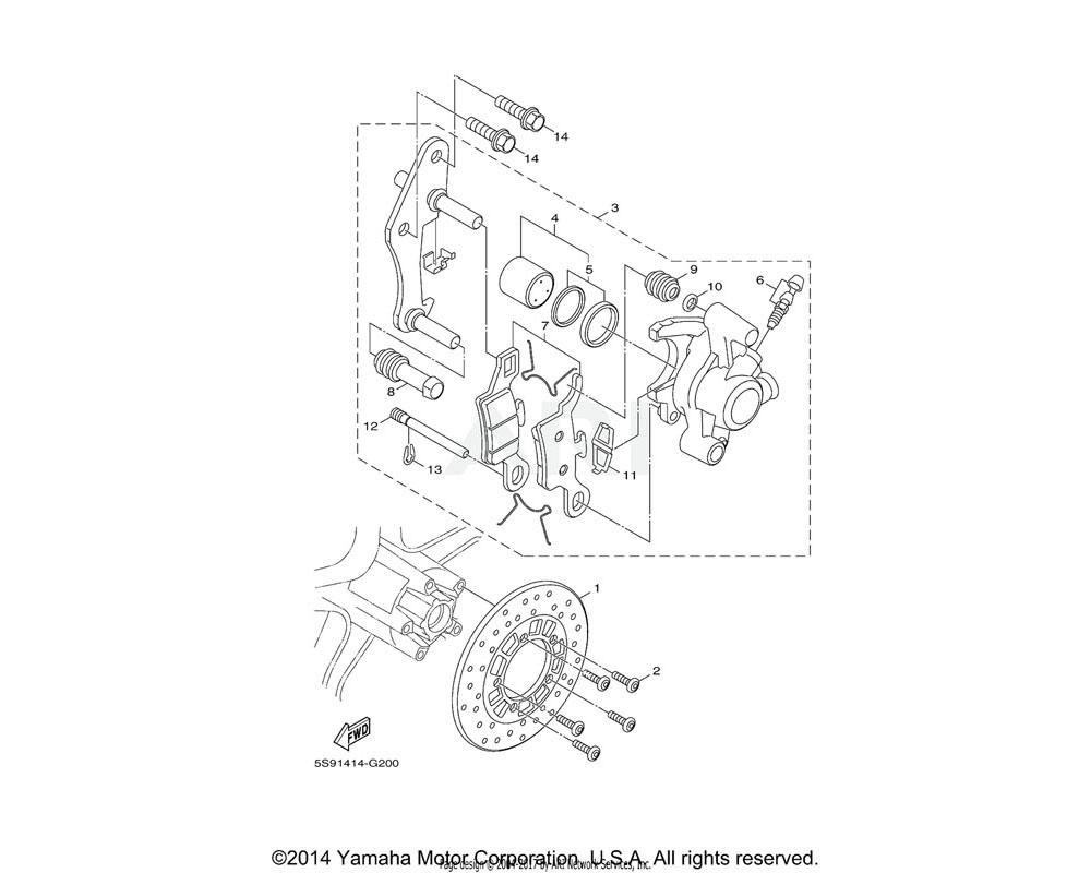 Yamaha OEM 5S9-W0048-00-00 BLEED SCREW KIT
