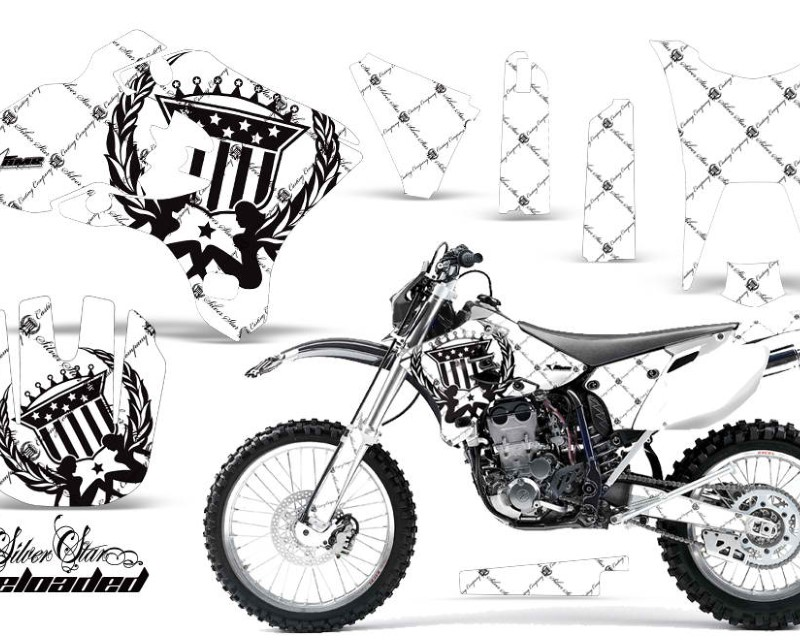 AMR Racing Dirt Bike Graphics Kit Decal Wrap For Yamaha WR250F WR450F 2003-2004áRELOADED BLACK WHITE