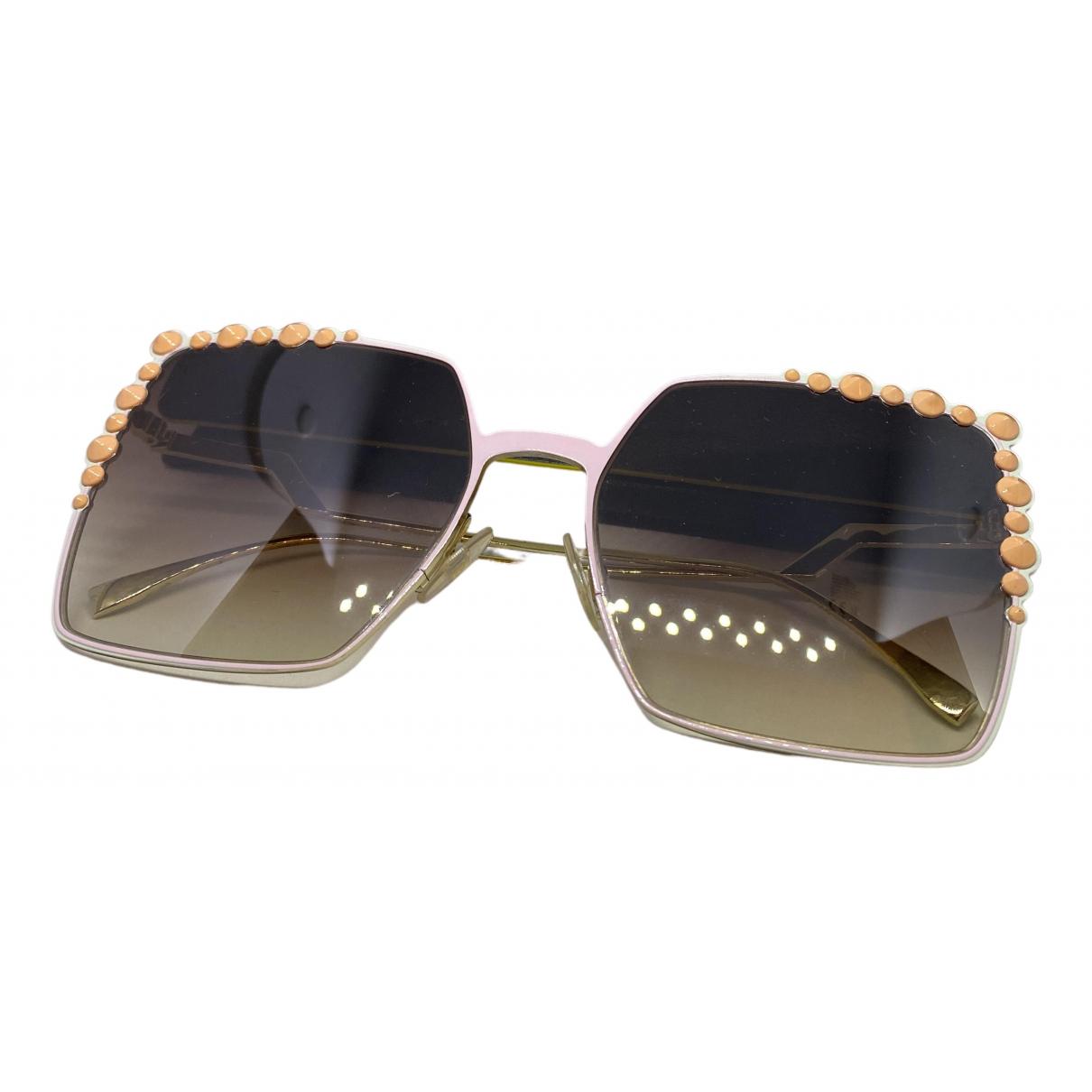 Fendi N Gold Metal Sunglasses for Women N