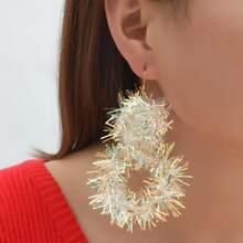 Christmas Colorful Ribbon Drop Earrings