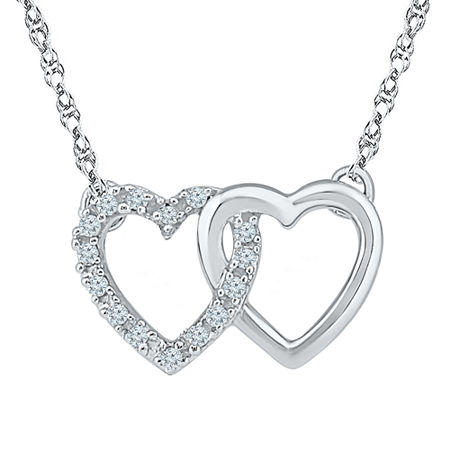 Womens Diamond Accent White Diamond Sterling Silver Pendant Necklace, One Size , No Color Family