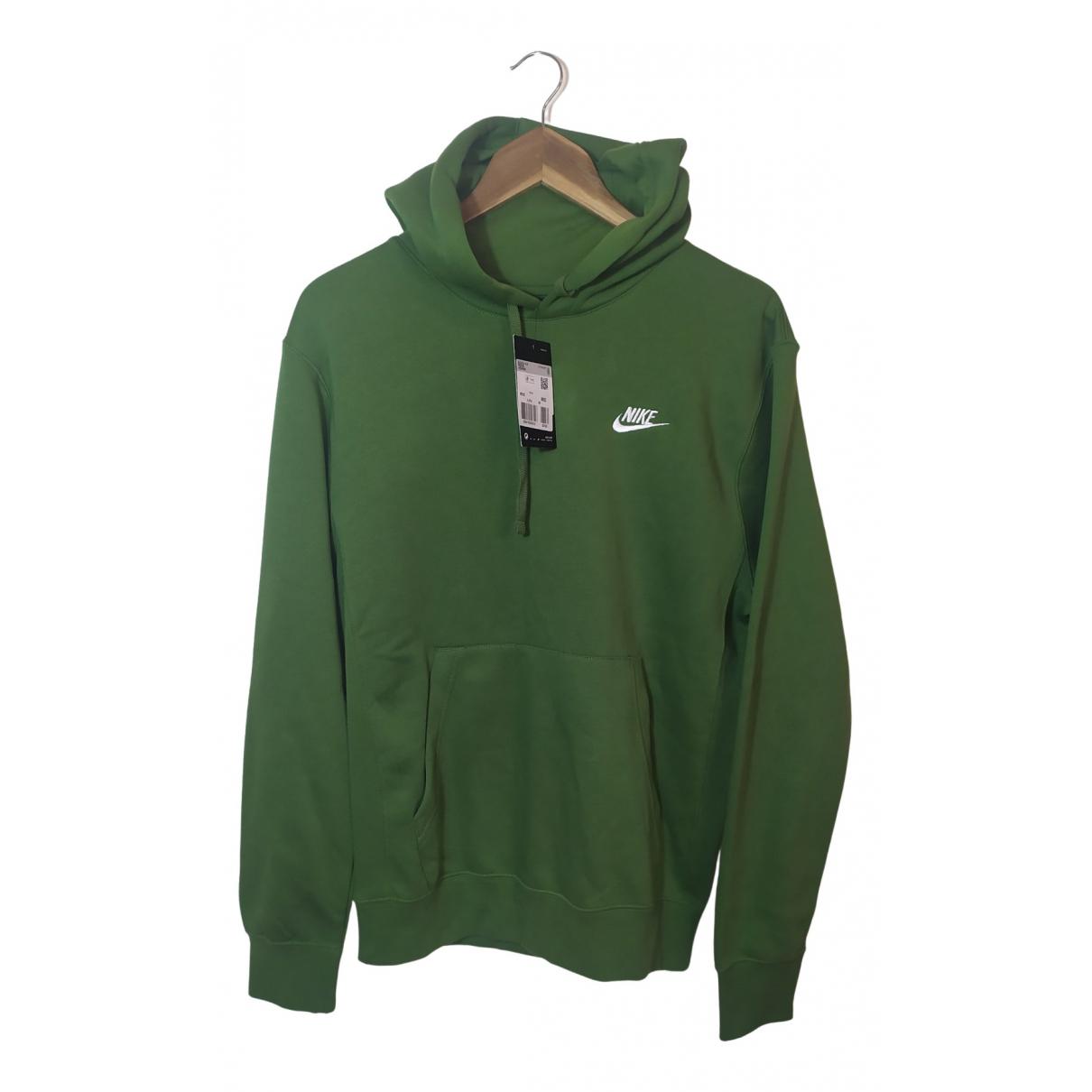 Nike \N Pullover.Westen.Sweatshirts  in  Khaki Baumwolle