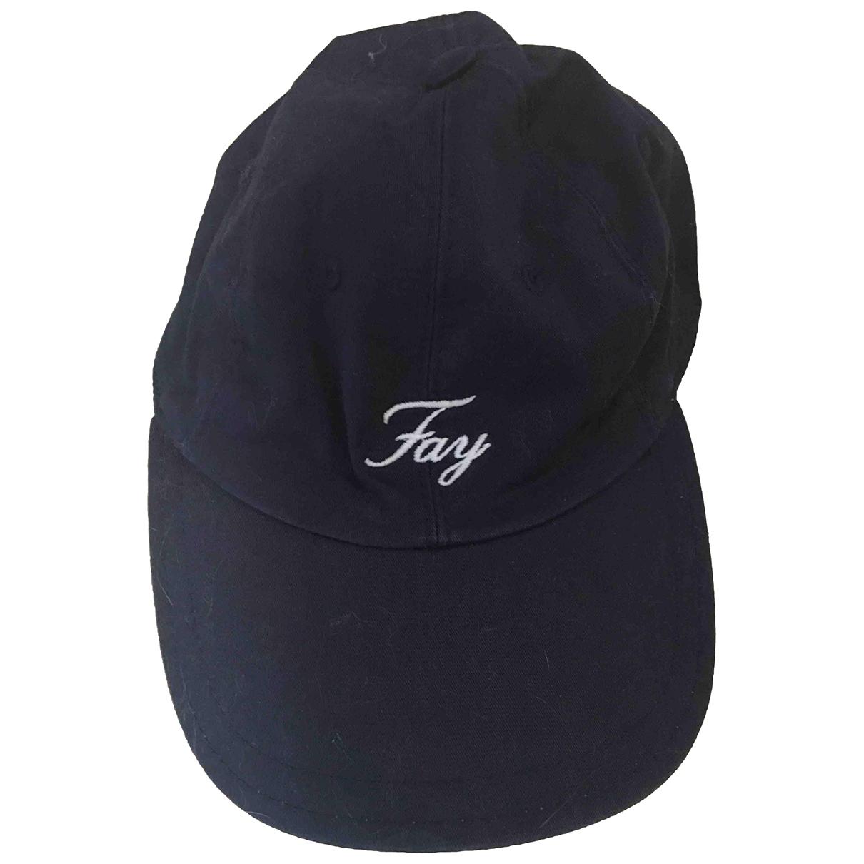 Fay \N Hut, Muetzen, Handschuhe in  Blau Baumwolle