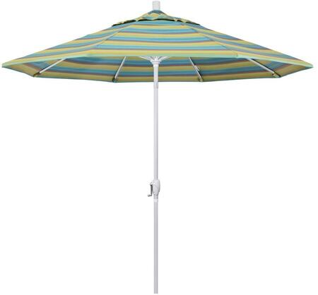 GSPT908170-56096 9' Pacific Trail Series Patio Umbrella With Matted White Aluminum Pole Aluminum Ribs Push Button Tilt Crank Lift With Sunbrella 2A
