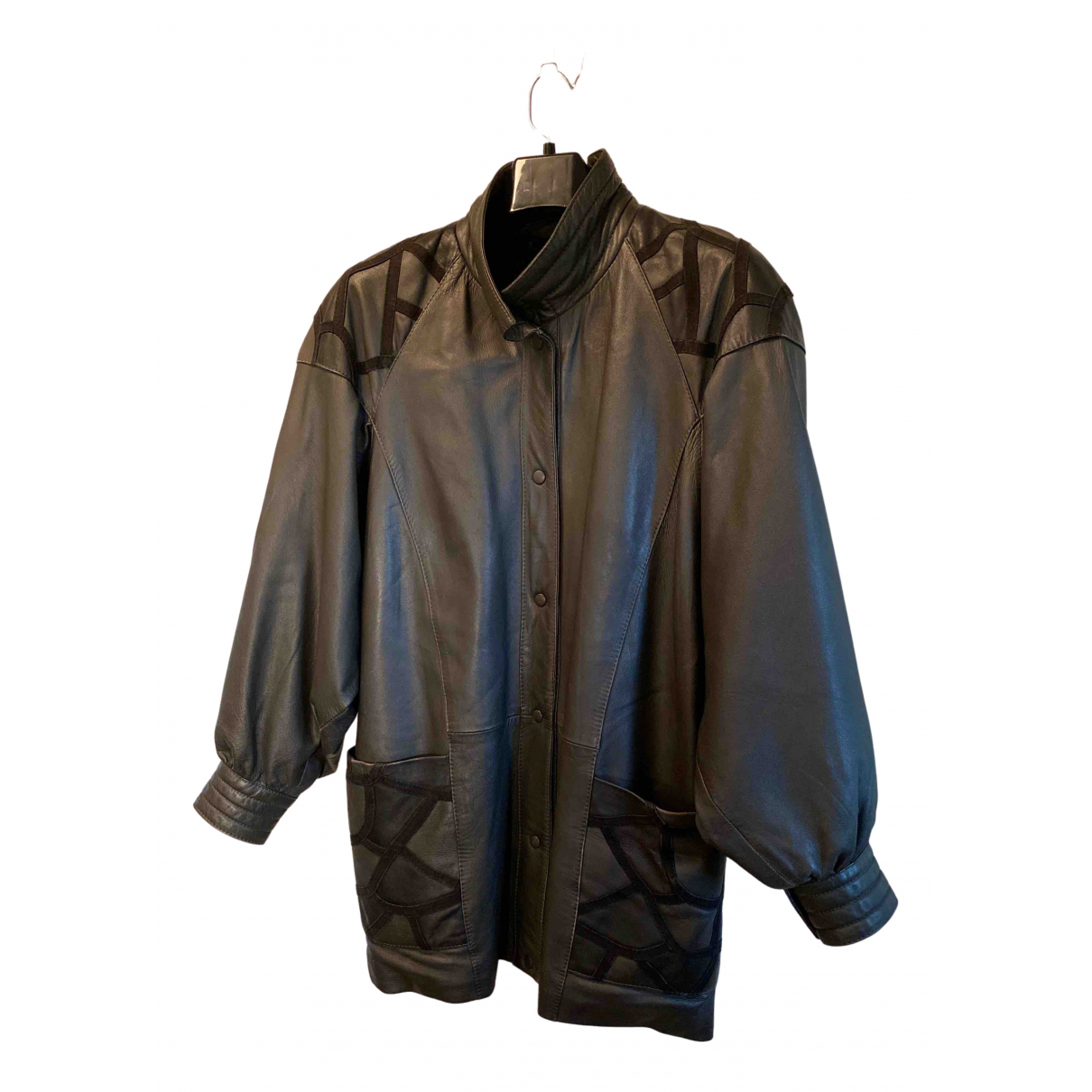 Yves Saint Laurent N Grey Leather coat for Women XL International