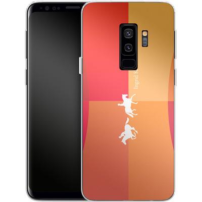 Samsung Galaxy S9 Plus Silikon Handyhuelle - Geometric Silhouette von Ingrid Klimke